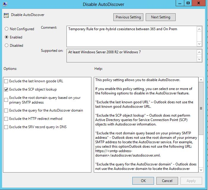 Controlling Autodiscover using Group Policy | Miss Tech