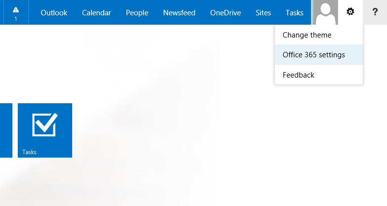 how to change start text in office 365