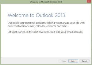 Outlook New Profile Setup