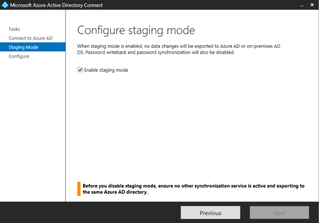 AADConnect Staging Mode