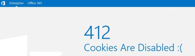 412 - Cookies are disabled