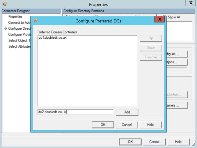AADConnect - Preferred DCs